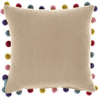 Bluebellgray - Pom Pom Cushion - Linen