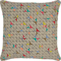 John Lewis Embroidered Triangles Cushion