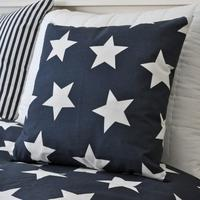 Navy Blue Star Cushion