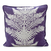 Violet Fern Cushion