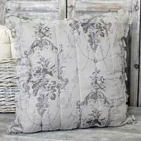 Toile Ruffle Large Cushion