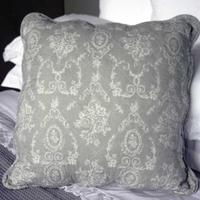Antique Grey Toile Large Cushion