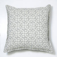 Cushion – geometric houses design in black
