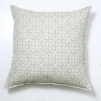 Cushion – geometric houses design in green
