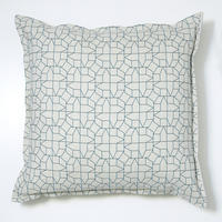 Cushion – geometric houses design in blue