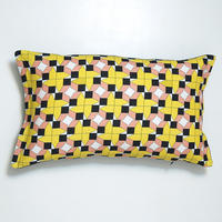 cushion – houses design, pink-black-yellow