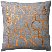 "Bloomingville - ""Find a Beautiful Place and Get Lost"" Cushion - 40x40cm"