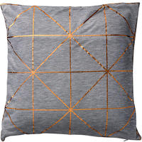 Bloomingville - Diagonal Print Cushion - Bronze