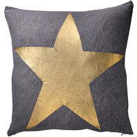 Bloomingville - Star Print Cushion - Gold