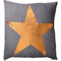 Bloomingville - Star Print Cushion - Bronze