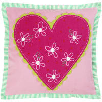 Designers Guild - Hearts a Flutter Cushion - Candytuft