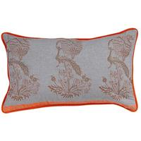 Pair of Grey Peacock Cushion Covers
