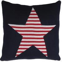 Pair of Striped Star Cushion Covers