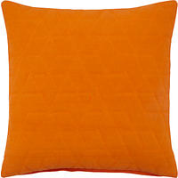 John Lewis Hex Cushion Orange