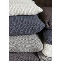 Moss Stitch cotton cushion