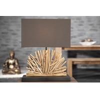 RUSTIQUE III - design driftwood table lamp 50cm handmade brown shade desk light