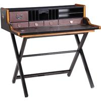 Rudjard Black Leather Writing Desk