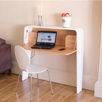 Contemporary Workstation in White and Oak