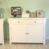 Lila White Painted Hidden Computer Desk