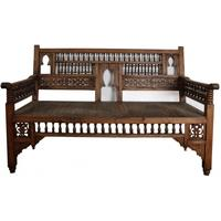 Wooden hall bench