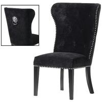 Black Dining Chair with Lion Knocker