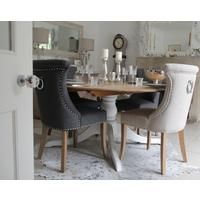 Ivory Studded No. 10 Dining Chair with Ring