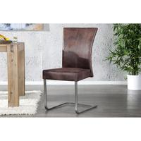 OLYMP - design dining chair antique brown faux leather kitchen chair