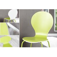 MARGO - 4pcs set butterfly dining chair lime-white stackable chair