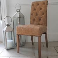 'You Choose the Leather' Parliament Dining Chair with Studding