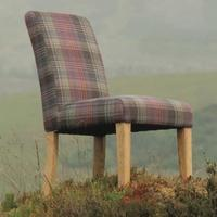Arran Crimond Heather Tartan Dining Chair
