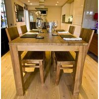 The 'Pusuk' Reclaimed Teak Wood Dining Table and Chairs