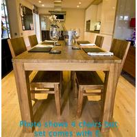 The 'Setangi' Reclaimed Teak Wood Dining Set