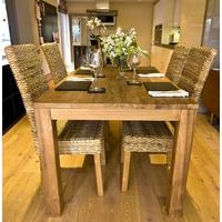 The 'Tutuk' Reclaimed Teak Wood Dining Set