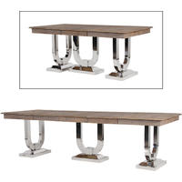 Industrial Chic Pine And Steel Dining Table
