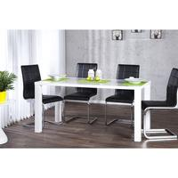 LIMA - design dining table 140cm white high gloss table