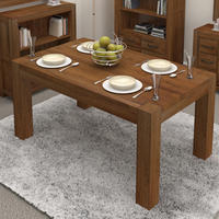 Chunky Solid Walnut 6-8 Seater Dining Table
