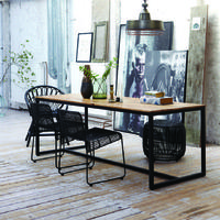 Berlin Mango Wood & Iron Industrial Dining Table