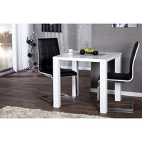 LIMA - design dining table 80cm white high gloss kitchen table