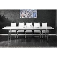 Dante white high gloss extendable 170-270cm dining table