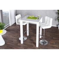Lima - white gloss dining table 80cm