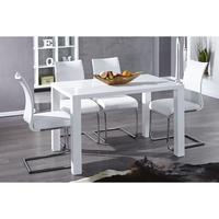 Lima - white high gloss dining table 120cm