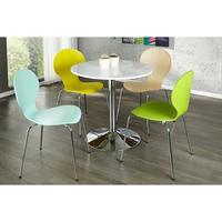 Simplex Tulip - white high gloss kitchen table