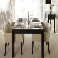Bali Black Lacquer Oriental Dining Table