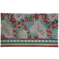 Rubber Backed Paisley Door Mat