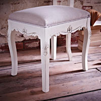 Brittany Dressing Table Stool - Cream