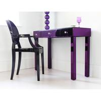 Purple Glass Dressing Table