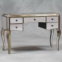 Silver Trimmed Five-Drawer Dressing Table