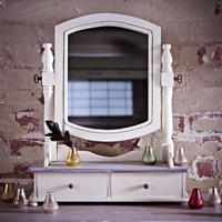 Brittany Dressing Table Swing Mirror - Cream