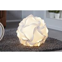 ATHENS XL - design floor lamp 50cm white ball shade geometric elements
