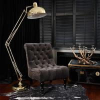 Gold Angled Floor Lamp